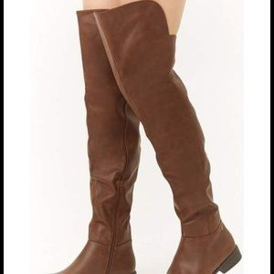 Forever 21 Faux Leather Over the Knee Boots
